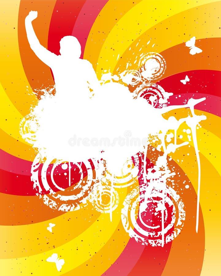 Farbiger Party-Hintergrund lizenzfreie abbildung