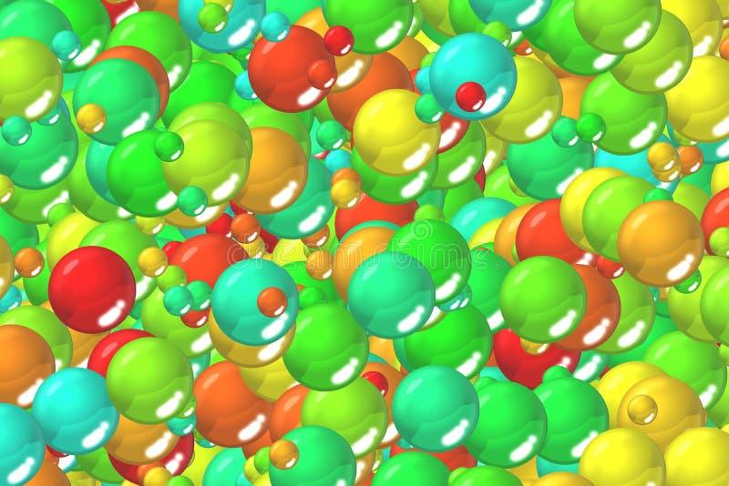 Farbiger Smaragd stuft Feiertagshintergrund ein stock abbildung