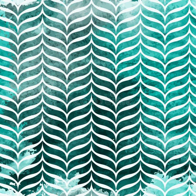 Farbiges abstrakter handgemalter Aquarell-Hintergrund-nahtloses Muster Auch im corel abgehobenen Betrag lizenzfreie abbildung