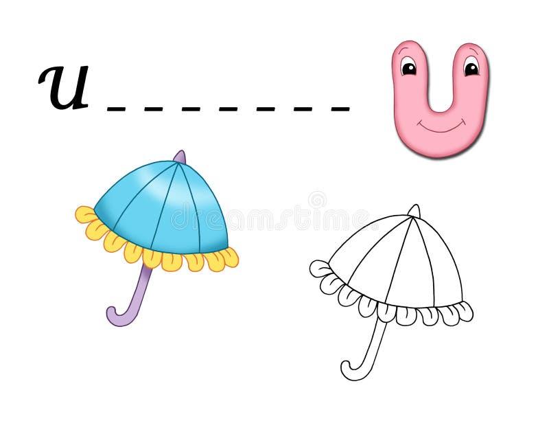 Farbiges Alphabet - U vektor abbildung