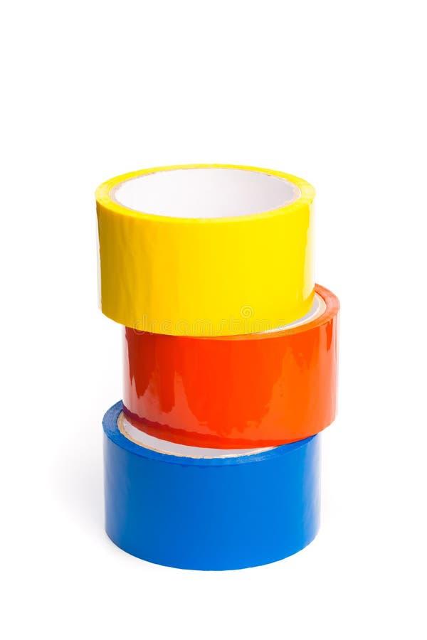 Farbiges Band in den Großrollen lizenzfreies stockfoto