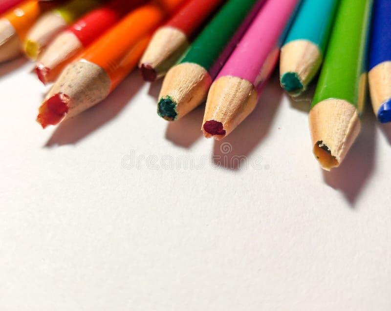 Farbiges Bleistiftspitzer-Ausfallung stockfoto