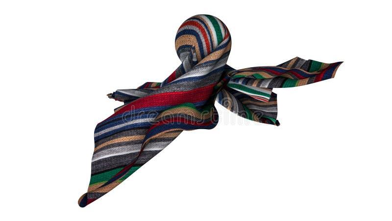 Farbiges Gewebe einer abstrakten Form Wiedergabe 3d stockfoto