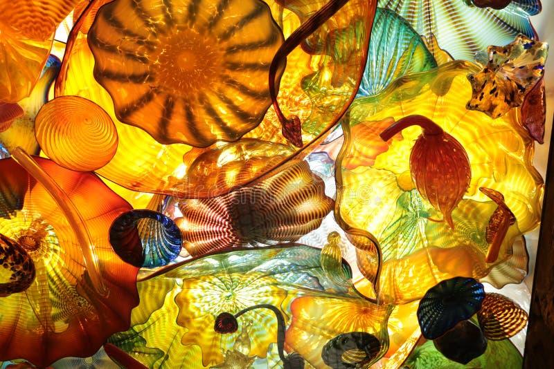 Farbiges Glas stockbild