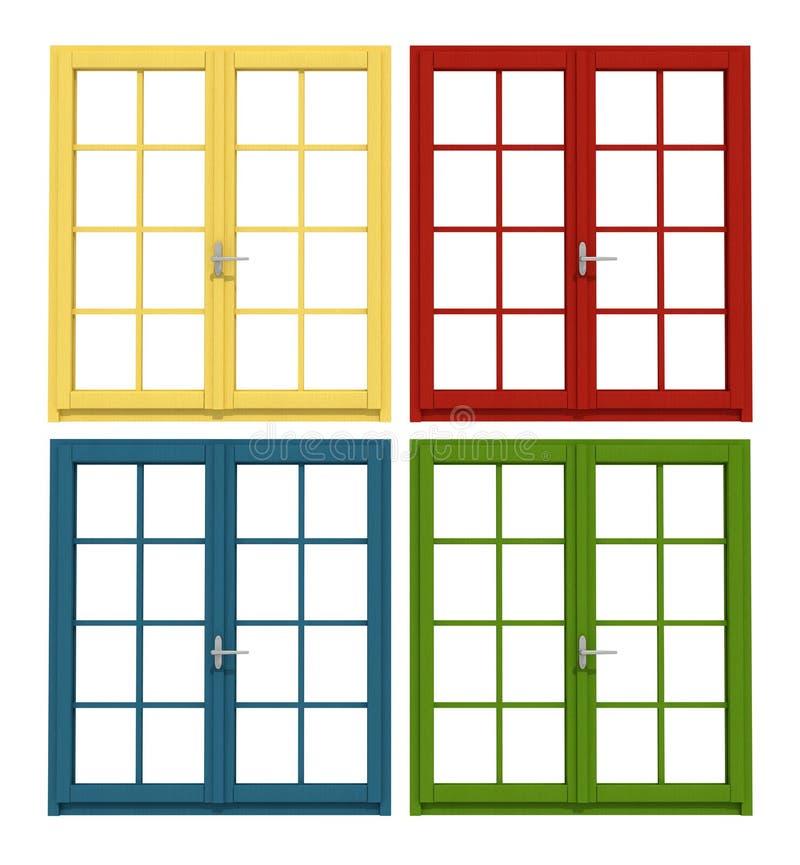 Farbiges hölzernes Fenster vektor abbildung