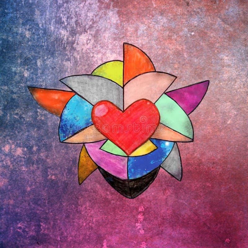 Farbiges Herz stockbild