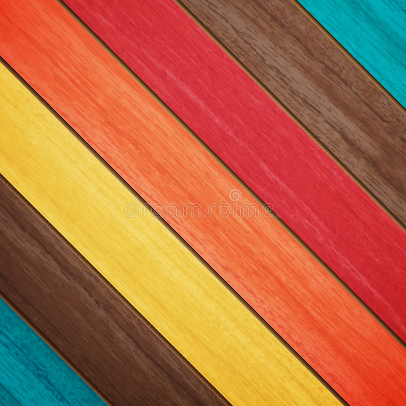 Farbiges Holz lizenzfreie abbildung