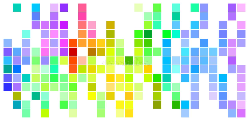 Farbiges Mosaik lizenzfreie abbildung