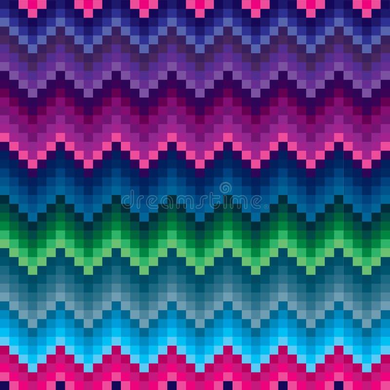 Farbiges nahtloses Muster des Zickzacks lizenzfreies stockfoto