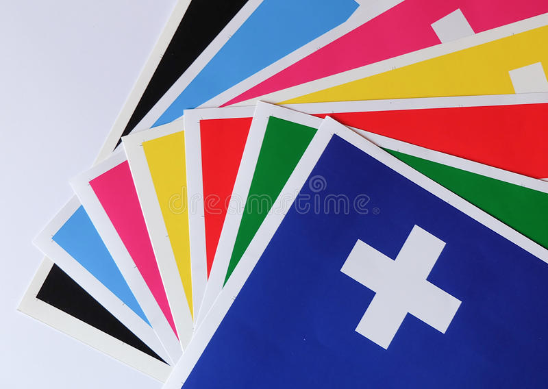 Farbiges Papier lizenzfreie stockfotos