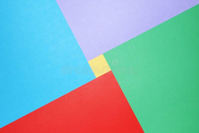 Farbiges Papier des Auszuges stockfoto