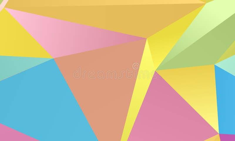 Farbiges Papier-Muster Eine Kombination von unregelmäßigen geometrischen Formen Auch im corel abgehobenen Betrag stock abbildung