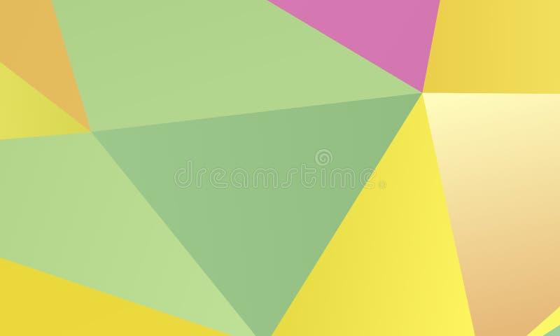 Farbiges Papier-Muster Eine Kombination von unregelmäßigen geometrischen Formen Auch im corel abgehobenen Betrag lizenzfreie abbildung