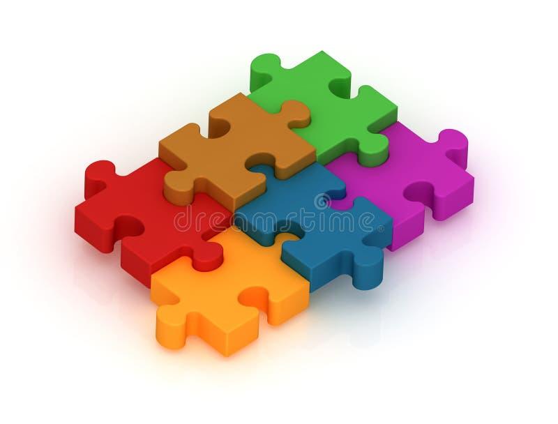 Farbiges Puzzlespiel vektor abbildung