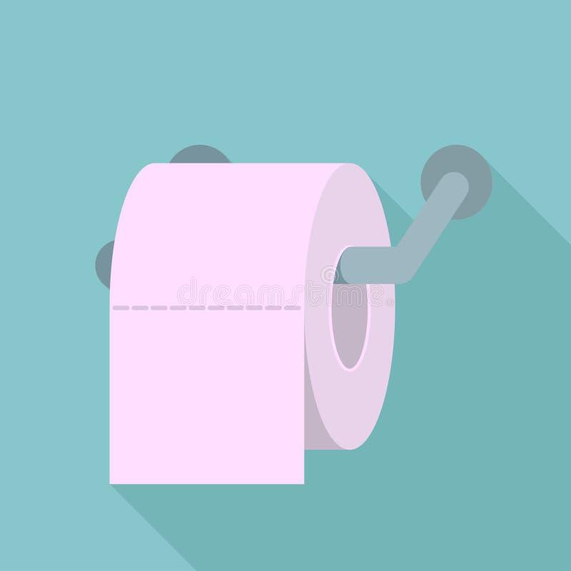 Farbiges Toilettenpapier, Toilettenpapier mit langem Schatten, Toilettenpapierlogo lizenzfreie abbildung