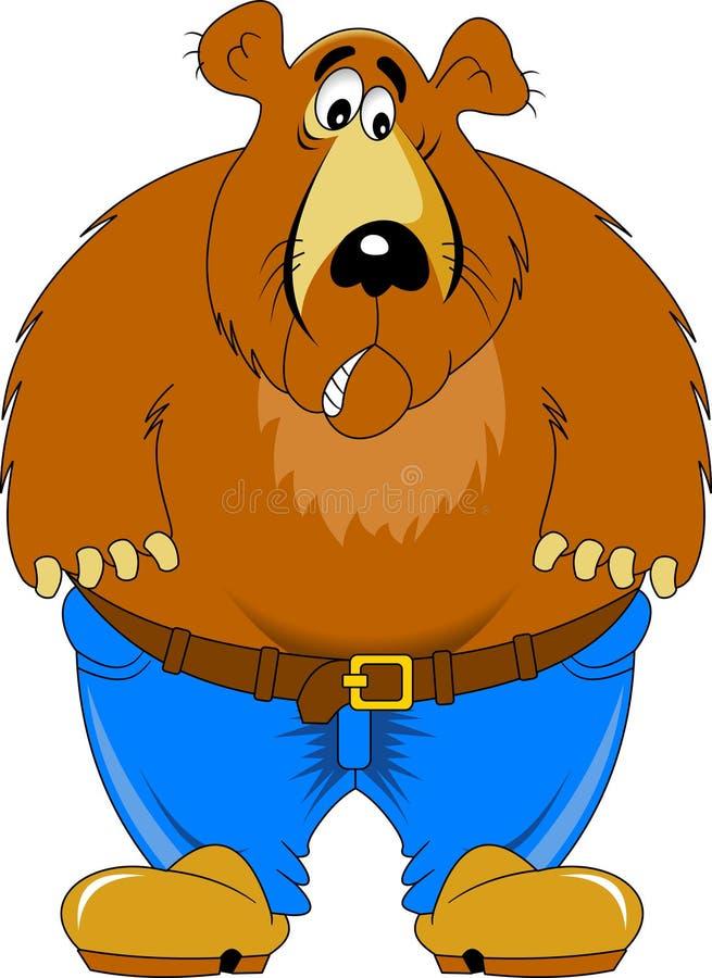 Farbjörn royaltyfri illustrationer