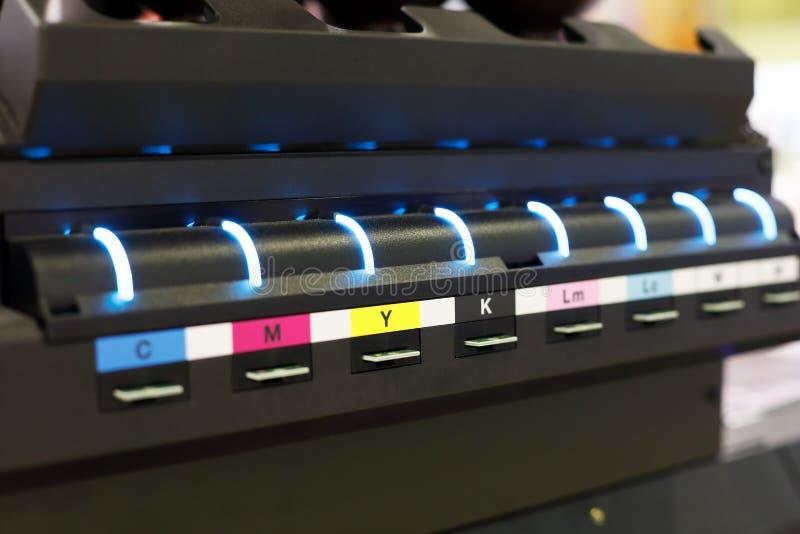 Farbkasteneinheit des Tintenstrahldruckers des großen Formats lizenzfreies stockfoto