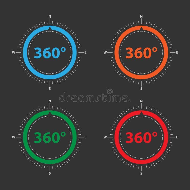 Farbkompaß für geolocation Anwendungen vektor abbildung