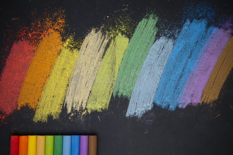 Farbkreiden stockfotos