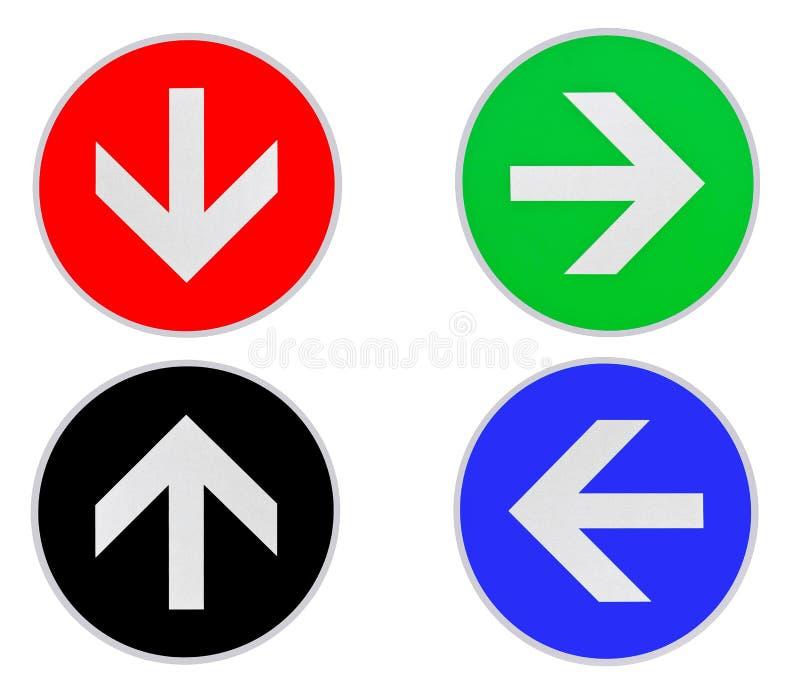 Farbpfeil-Richtung lizenzfreie abbildung