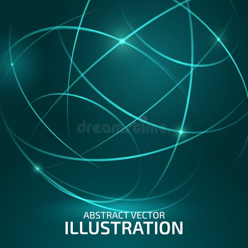 Farbkreislinien vektor abbildung