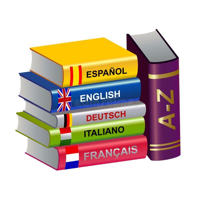 Farblehrbücher lizenzfreie abbildung