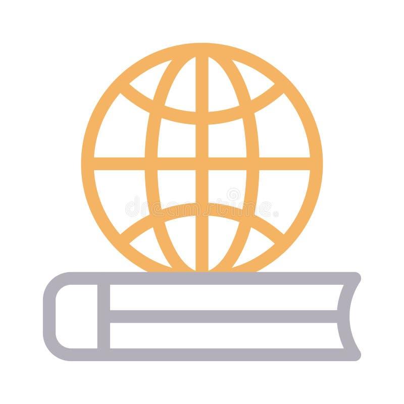 Farblinie-Vektorikone der Ausbildung dünne lizenzfreie abbildung