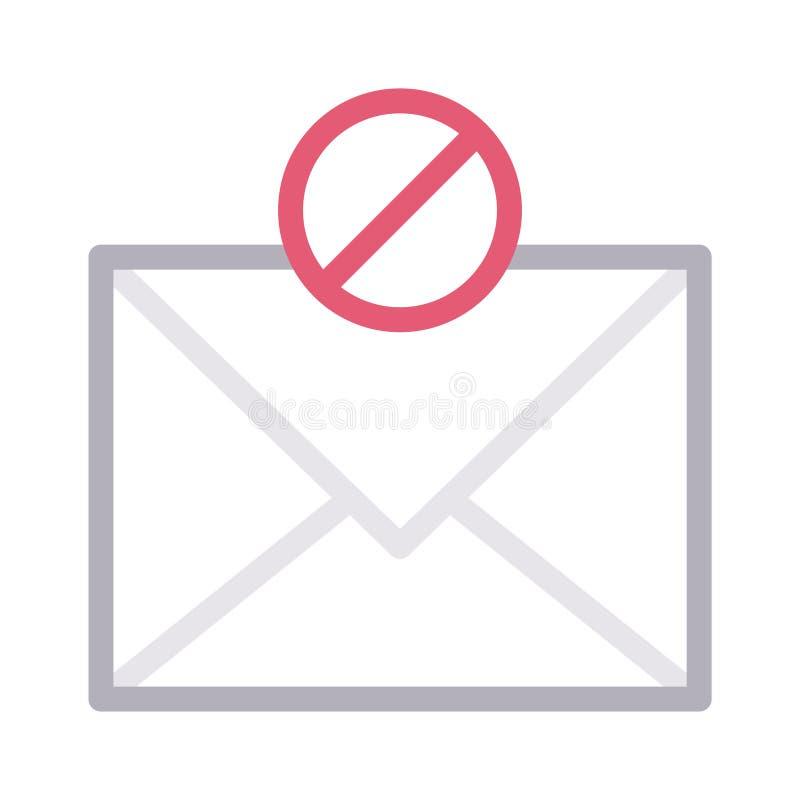 Farblinie-Vektorikone der Blockmitteilung dünne lizenzfreie abbildung