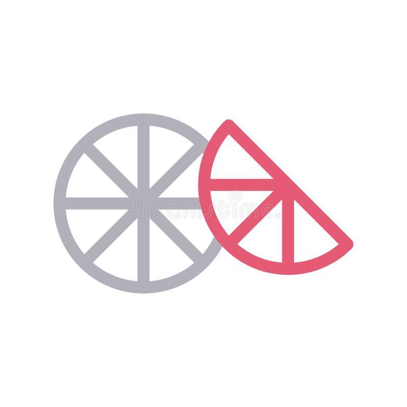Farblinie-Vektorikone der Zitrone d?nne vektor abbildung