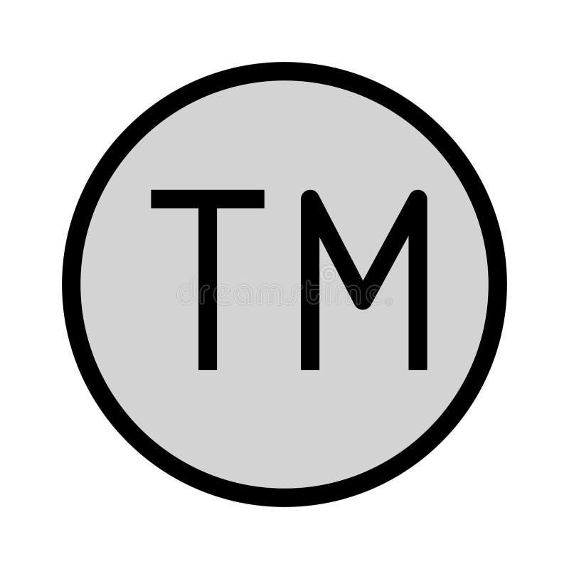 Farblinieikone des eingetragenen Warenzeichens lizenzfreie abbildung