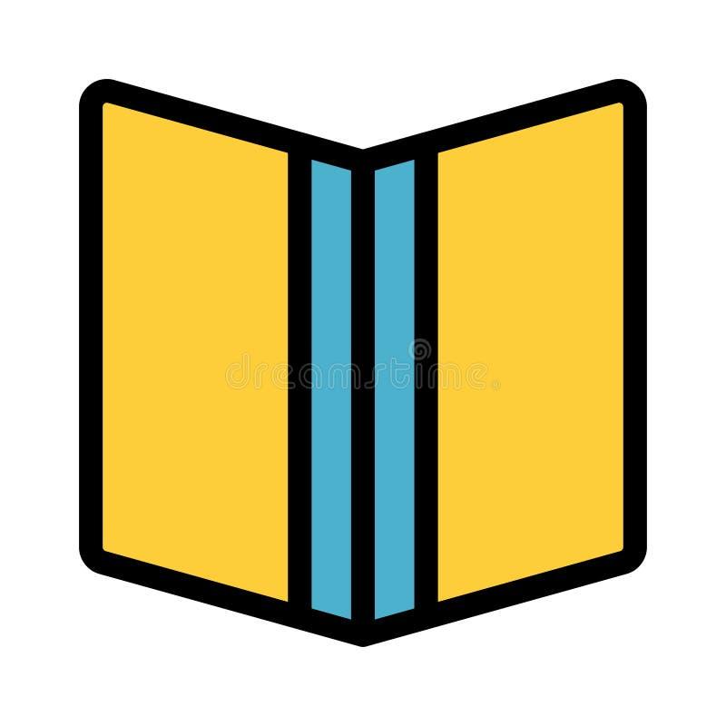 Farblinieikone des offenen Buches lizenzfreie abbildung