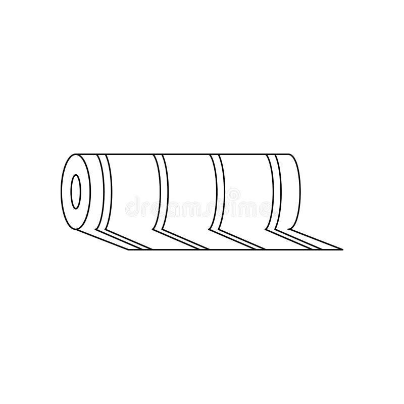 Farblinoleumikone Element von Bauwerkzeugen f?r bewegliches Konzept und Netz Appsikone Entwurf, d?nne Linie Ikone f?r Website lizenzfreie abbildung
