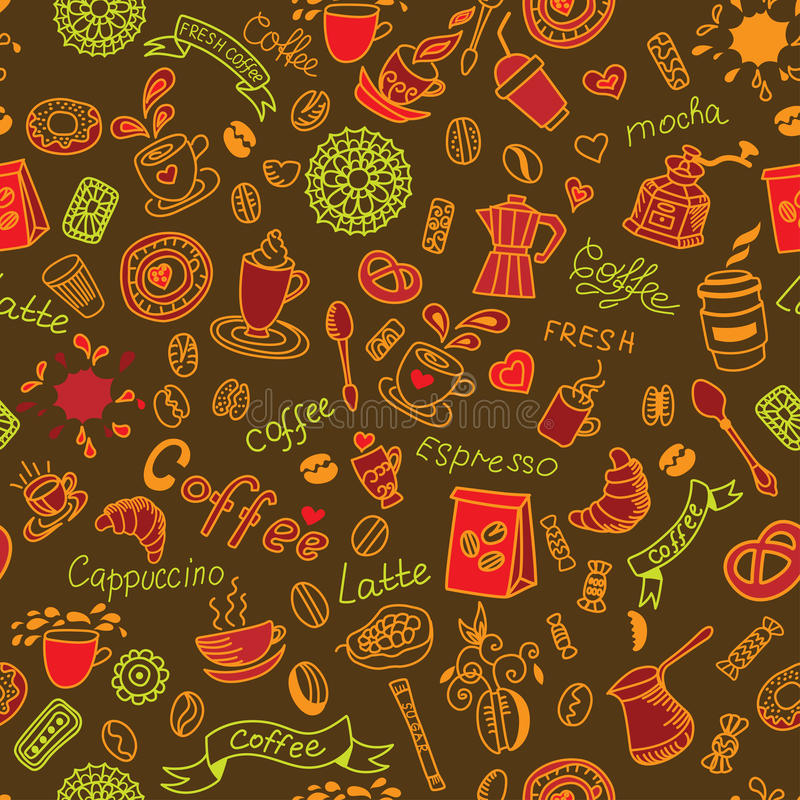 Farbmuster mit Kaffee vektor abbildung