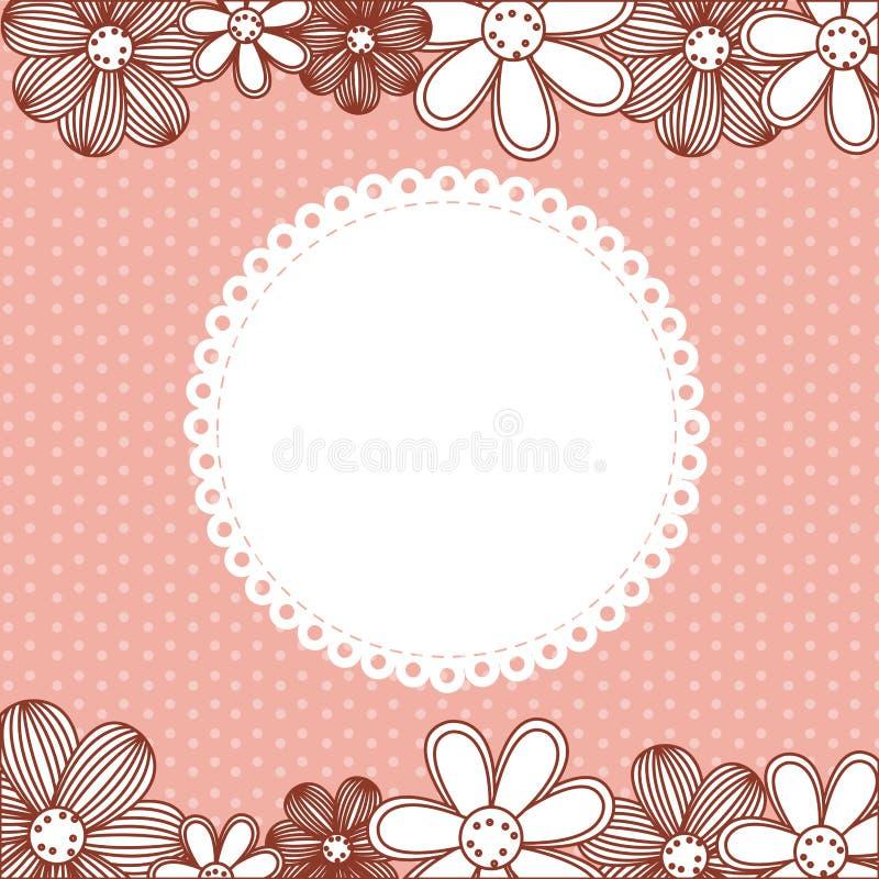 Farbmuster punktiert mit Blumenhintergrund stock abbildung