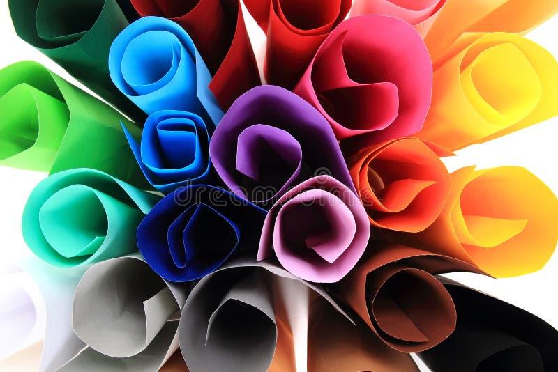 Farbpapierrollen lizenzfreies stockfoto