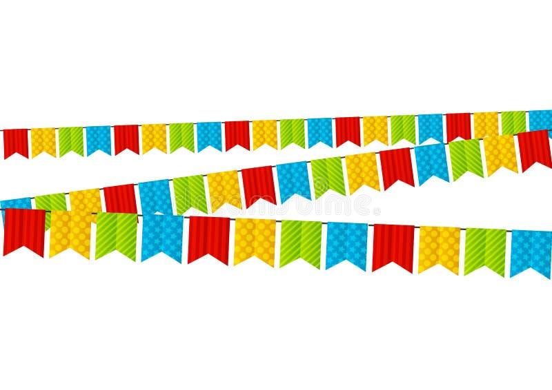 Farbparteiflaggen stock abbildung