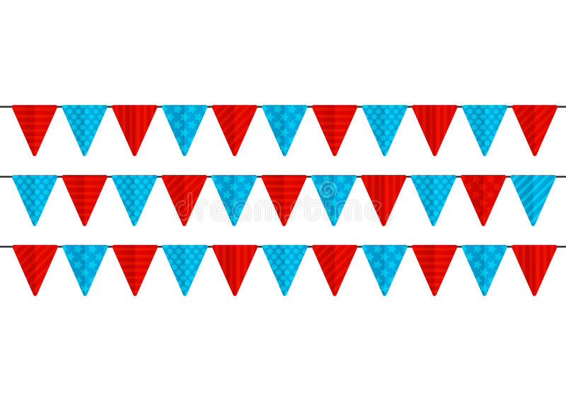 Farbparteiflaggen lokalisiert stock abbildung