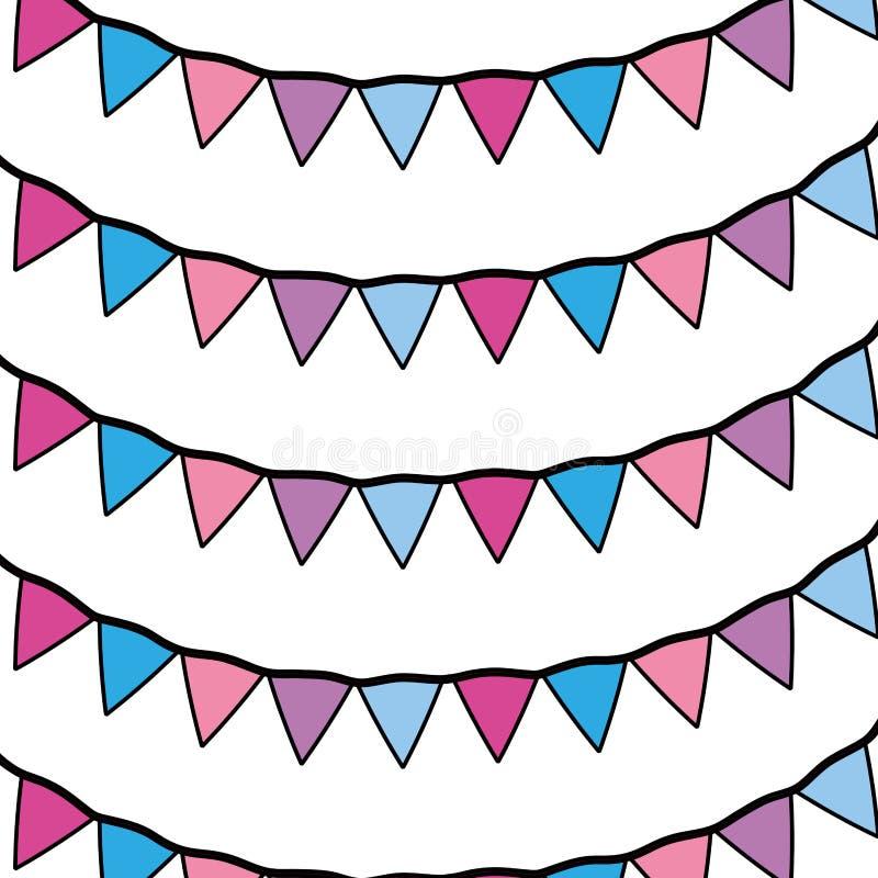 Farbparteiflaggenereignis-Feierhintergrund vektor abbildung