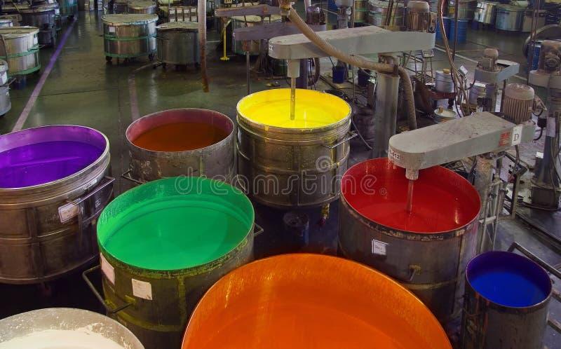 Farbproduktion lizenzfreie stockfotos