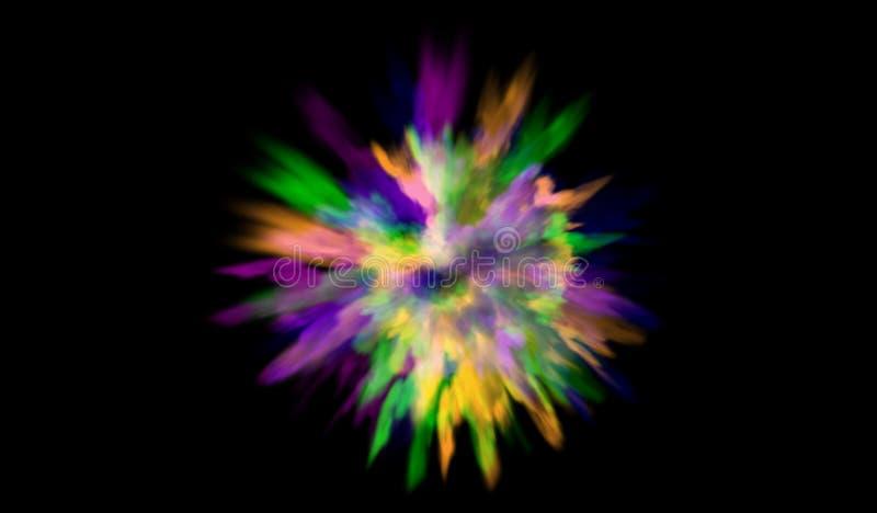 Farbpulver-Explosionshintergrund Farbige Staubfarbe explodieren Vektorillustration für Holi-Farbfestivalereignis vektor abbildung