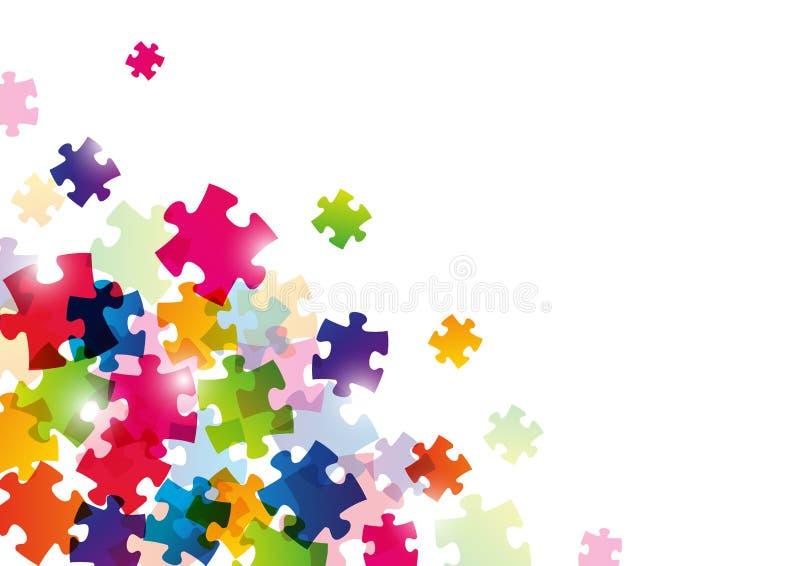 Farbpuzzlespielhintergrund stockfoto