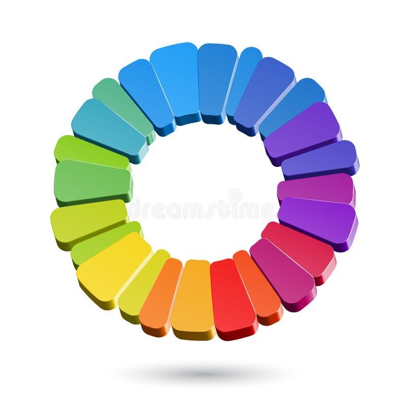 Farbrad vektor abbildung