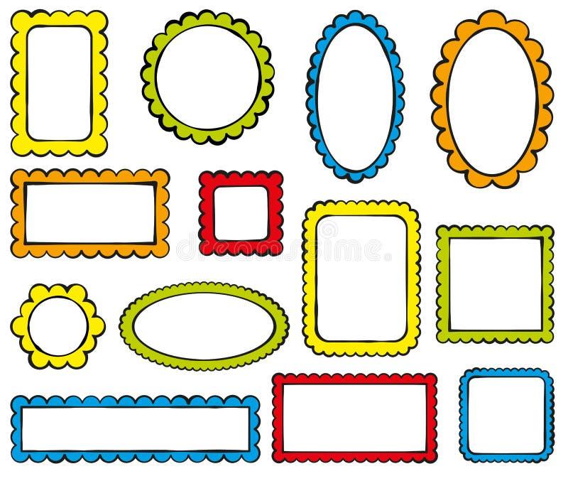 Farbrahmen vektor abbildung. Illustration von oval, marke - 51180981
