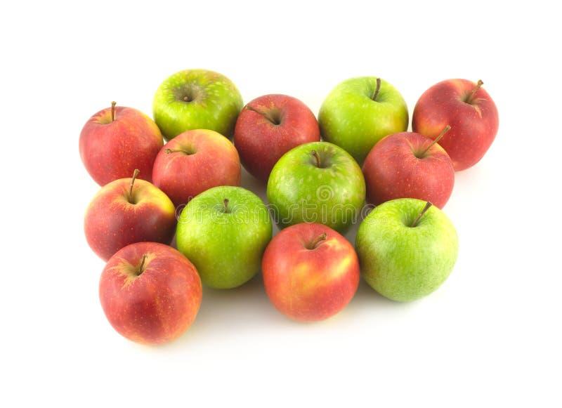 Farbreife Äpfel lokalisierten Nahaufnahme stockbilder
