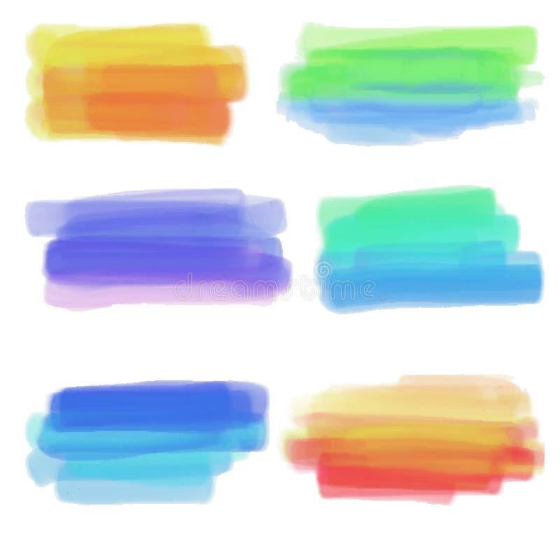 Farbstellen lizenzfreie abbildung