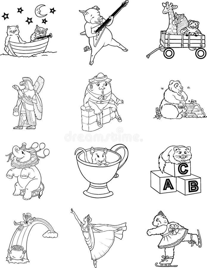 Farbton-Buch-Zeichen 1 lizenzfreie abbildung