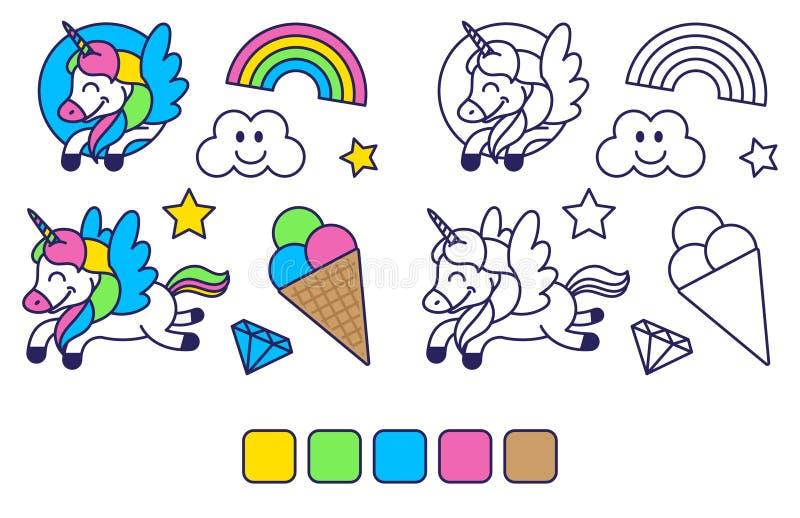 Farbton mit nettem Bild lizenzfreie abbildung