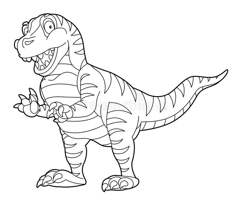 Farbtonseite - Dinosaurier - Illustration für die Kinder vektor abbildung