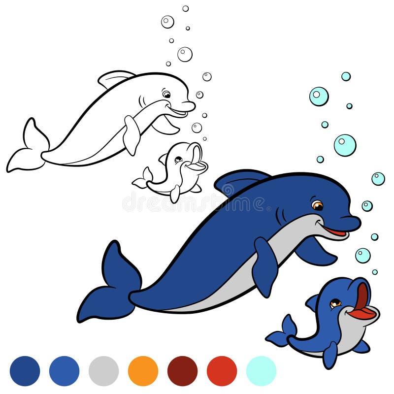 Ungewöhnlich Delphin Bild Zu Färben Fotos - Dokumentationsvorlage ...