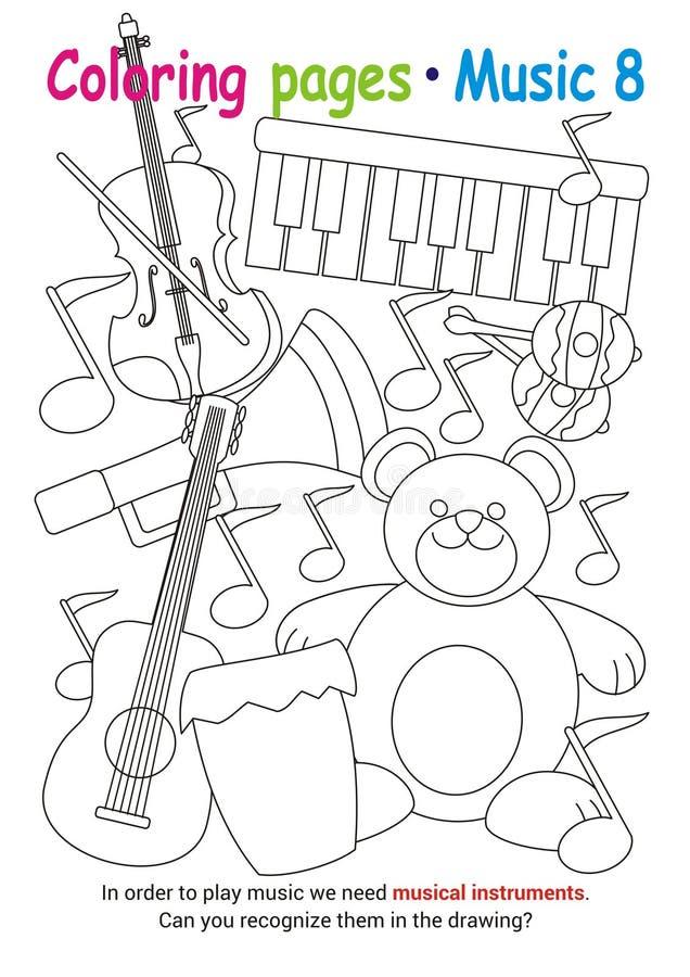 Farbtonseiten über Musik lizenzfreie stockbilder